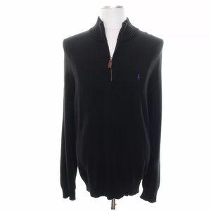Ralph Lauren Sweater Black Zipped XL